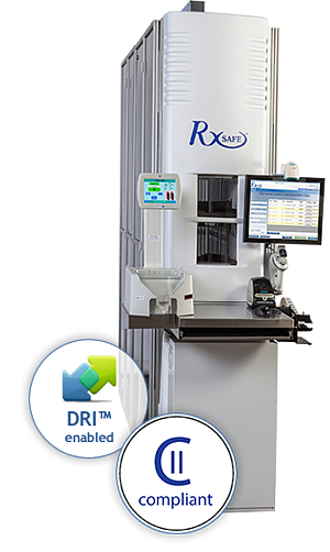 CII compliant, DRI enabled pharmacy automation robot
